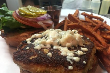 Enjoy our Crab Burger at The Cask